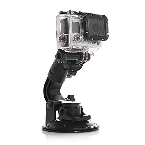 AxPower Car Suction Cup Mount for GoPro Hero 4 5 6 7 8 Black/Session, AKASO/Campark/YI Action Camera