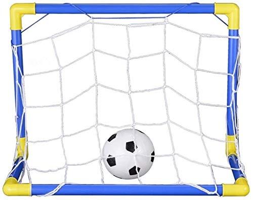 Hinleise Interior Plegable Fútbol Balón de Fútbol de la Meta de Post+Bomba...