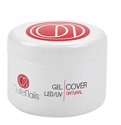 UV Gel Cover Natural 30ml para uñas de gel - UV/Led secado