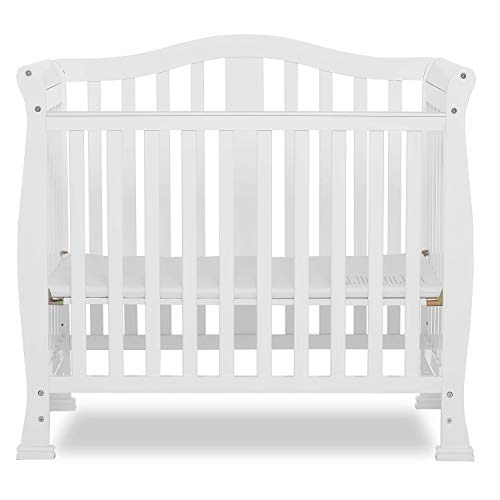 Dream On Me Addison 4-in-1 Convertible Mini Crib in White, Greenguard Gold Certified