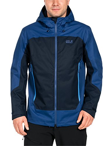 Jack Wolfskin Jungen North Slope Men Wetterschutzjacke, Night Blue, XXL