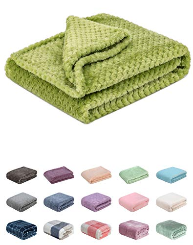 Fuzzy Blanket or Fluffy Blanket for Baby Girl or boy, Soft Warm Cozy Coral Fleece Toddler, Infant or Newborn Receiving Blanket for Crib, Stroller, Travel, Decorative (28Wx40L, XS-Avocado)