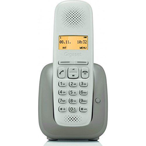 Gigaset A150 - Teléfono (Teléfono DECT, Terminal inalámbrico, 50 entradas, Identificador de Llamadas, Beige): Amazon.es: Electrónica