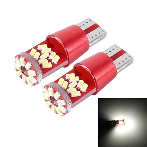 BANAZ Lámpara de luz de la luz de la luz de la luz del Coche LED 2 Disc T10 5W 27 SMD-3014 DC 12V (Color : White Light)