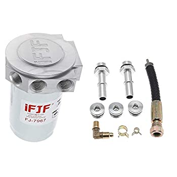 iFJF 121003 Fuel Filter Conversion Kit 10 Micron Replacement for F250 F350 F450 F550 6.7L Powerstroke 2011-2020 Diesel Engine Upper Fuel Filter Replaces BF7967 33393 Housing All Metal