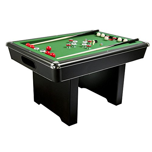 Carmelli NG2404PG Renegade Slate Bumper Pool Table with Fast Action Rubber Bumpers and Internal Carpeted Ball Return