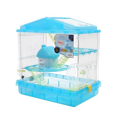 WXLSQ Acrílico Hamster Cage, de Gran tamaño Transparente Dos Pisos de la...