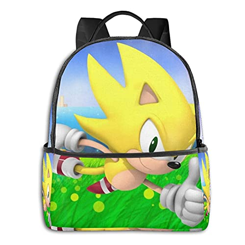 Sonic The Hedgehog - Mochila impermeable ligera para viajes, senderismo, trabajo y hombre