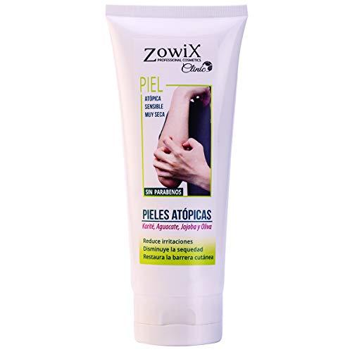 ZOWIX Crema para pieles atopicas, eczemas, psoriasis o dermatitis. Piel muy sensible, extraseca o con escamas. NATURALMENTE CUIDADA. Sin Parabenos. 200ml.