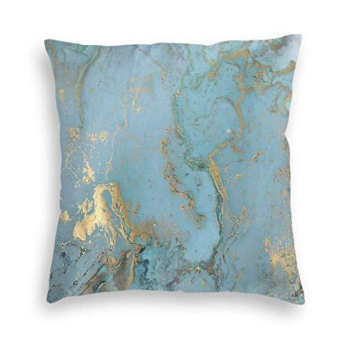 huatongxin Funda de almohada suave con textura natural, color azul y verde, decorativa, para sofá, dormitorio, coche, 45 x 45 cm