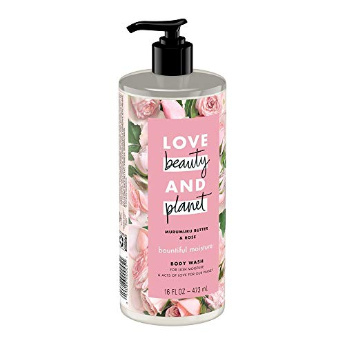 Love Beauty and Planet Murumuru Butter and Rose Body Wash, 16 Ounce (Pack of 2)