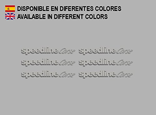 Ecoshirt AQ-9Q88-W52P Aufkleber Speedline Corse F196 Stickers Aufkleber Decals Adesivi Rallye Racing, Silber