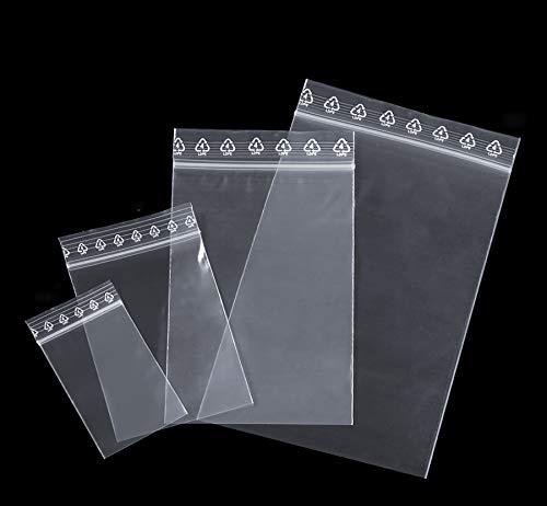 400 Sacs à Fermeture Zip Sachets avec Fermeture par Pression Fermeture Rapide Sacs Sac Fermeture Éclair Sac en Sacs Kit avec 4 Tailles