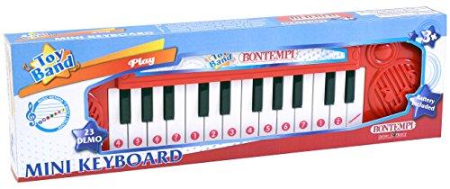 Bontempi- Tastiera 24 Tasti, Multicolore, 12 2406