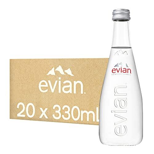伊藤園 evian(エビアン) グラスボトル 330ml×20本