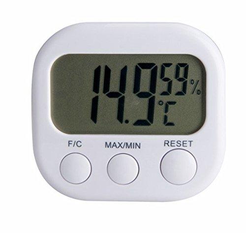 Higrometro y Termometro, Termometro digital 2 en 1 Higrometro Medidor de Temperatura y Humedad con Pantalla LCD