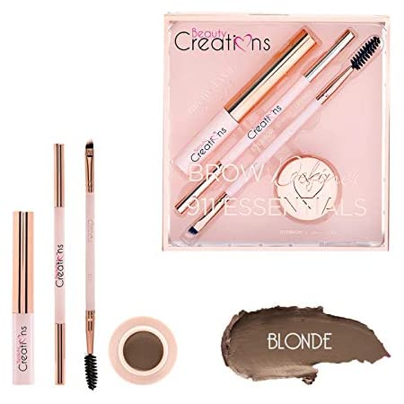 Kit de cejas essentials blonde Beauty Creations 4 piezas