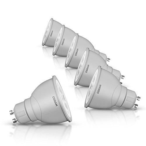 OSRAM LED-Reflektorlampe GU10 dimmbar Superstar PAR16 / 3,5W - 35 Watt-Ersatz, LED-Spot, Abstrahlungswinkel 36° / kaltweiß - 4000K, 6er Pack