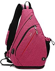 Tudequ Crossbody Backpack Sling Chest Bag Backpack Casual Daypack with Dry Wet Separation and USB port for Men& Women