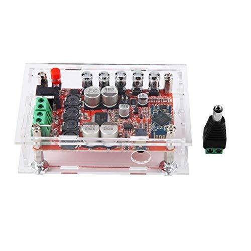 ShiSyan Tablero del Amplificador, Shell acrílico + Canal TDA7492P Bluetooth CSR4.0 Amplificador Digital de Potencia de Audio Dual Junta