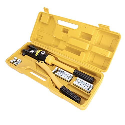 Sfeomi Crimpadora Hidráulica 12 Toneladas Kit de Herramienta Prensa para Cables Herramienta de Engarzado Hidráulico de Alambre Cable de Batería Pinza Crimpadora