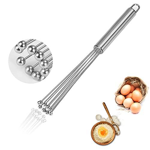 Batidor Acero Inoxidable,Varilla para batir,batidor de Alambre,Batidor de huevo manual,Adecuado para cocina,hotel,restaurante,panadería