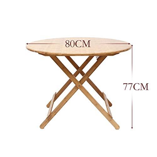 Huoqiin Eenvoudige, klaptafel, klein, bamboe, eettafel, rond, draagbaar
