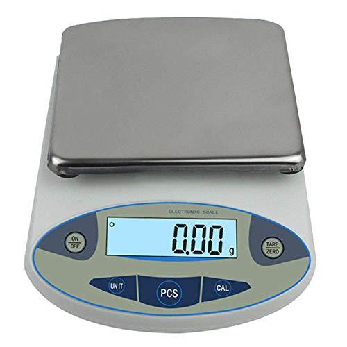 Báscula digital de precisión de laboratorio, báscula electrónica de precisión para joyas, 0,01 g (5000 g)