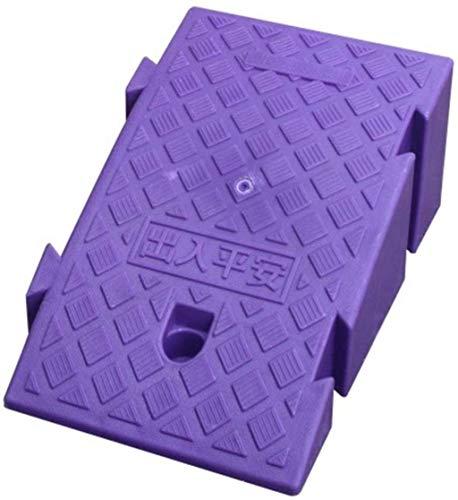 LIUYULONG Rampa de acera Rampas para sillas de Ruedas Scooter Rampas con patrón Antideslizante Rampas al Aire Libre estables Rampa de Seguridad (Color : Purple, Size : 25 * 39 * 16cm)