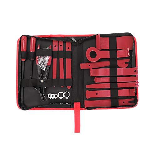TUERSI 31 herramientas de reparación manual de reparación de embellecedores para coche, color rojo