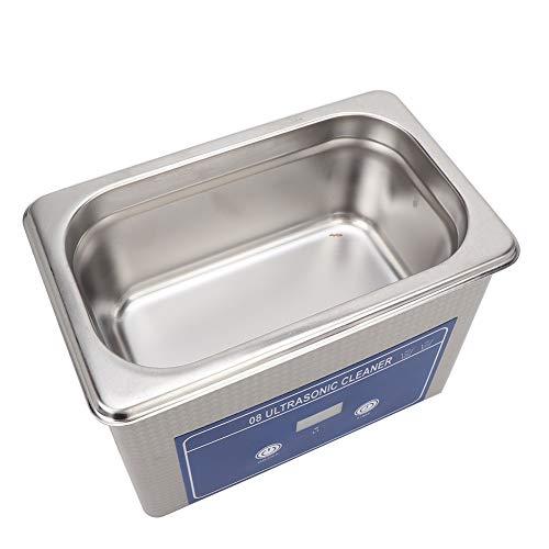 Ultraschallreiniger, 200-240V 800ml Edelstahl Digital Ultrasonic Cleaner Schmuckreiniger Reinigungsgerät für Reinigung von Brillen Schmuck Uhren Zahnersatz, 18 * 13 * 11cm
