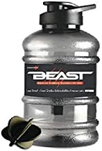 Ek Retail Shop Beast Sports Water/Protein Gallon Bottle (1.5 LTR) with Mixer Ball and Strainer (Unbreakable, Freezer Safe)