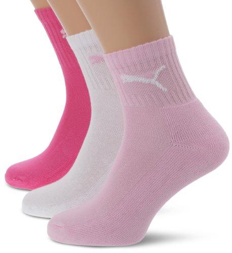 Puma Short Crew 3 pares, Calcetines unisex, Rosa (Pink Lady