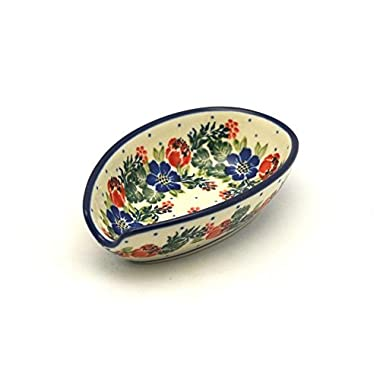 Polish Pottery Spoon Rest - Garden Party