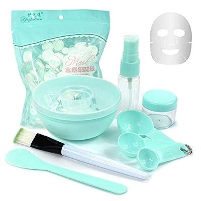 DIY Mask Tool Set, Facemask Mixing Bowl Set with 100 x Compress Mask, 9 In 1 DIY Facemask Mixing Tool Kit