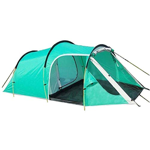 HIGHKAS Tunnel Outdoor Camping Tent Family Party Travelling Tent 3-4 Persons Mountain Tent One Bedroom & One Living Room Waterproof