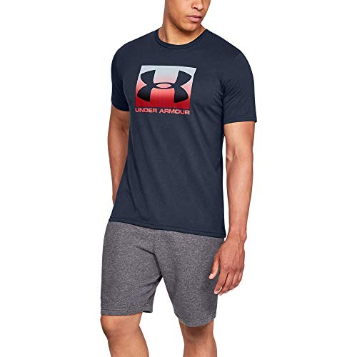 Under Armour UA Boxed Sportstyle, Camiseta Hombre, Academy/Red, M