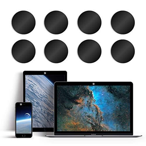 blackdot.one - Webcam Abdeckung [8 St. 12x12 mm schwarz] | Webcam Cover. Kein lästiges An- und Abkleben | Laptop Camera Cover | Kamera Abdeckung Laptop | Handy Kamera Abdeckung
