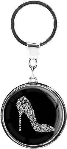 metALUm   Schlüsselanhänger Rund Metall Pumps in Silber 6601351