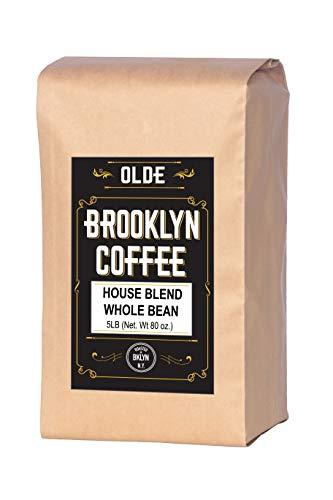HOUSE BLEND Whole Bean Coffee- 5LB Bag For a Light-Medium Roast Coffee - Breakfast, House Gourmet,...