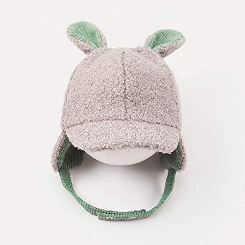 Gorro de invierno para bebé, gorro de lana con orejeras, unisex, tejido cálido, de algodón y ganchillo, talla única C