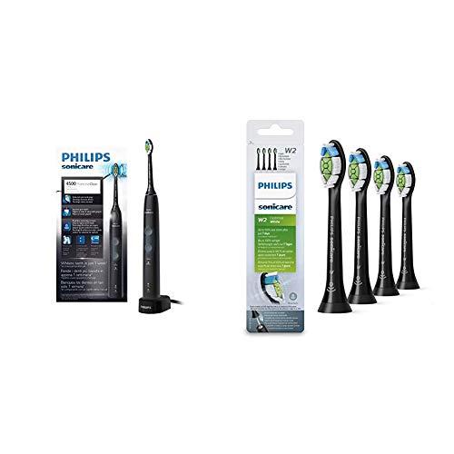 Philips Sonicare HX6830/44 ProtectiveClean 4500 Spazzolino Elettrico con Tecnologia Sonica + Philips Sonicare HX6064/11, Testine W2 Optimal White