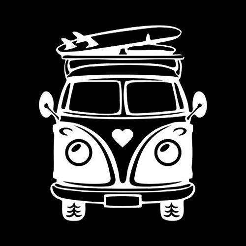 ZCZWQ Camper Travel Surf Skateboard Summer Beach Ploth Ocean Stickers Adesivi per auto Accessori Cover Moto PVC 18 cm x 15 cm (Color Name : White, Size : 24cm x 20cm)
