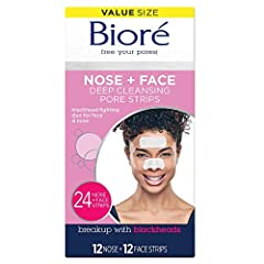 Instantly unclog your pores - Bioré nose and face pore strips instantly clean and unclog pores to purify your skin for the deepest clean in just 10 minutes. Reduce blackheads – See instant results when you use Bioré pore strips. With continual use, y...