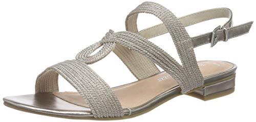 MARCO TOZZI 2-2-28185-34, Sandali con Cinturino alla Caviglia Donna, Rosa (Rose Metallic 592), 38 EU