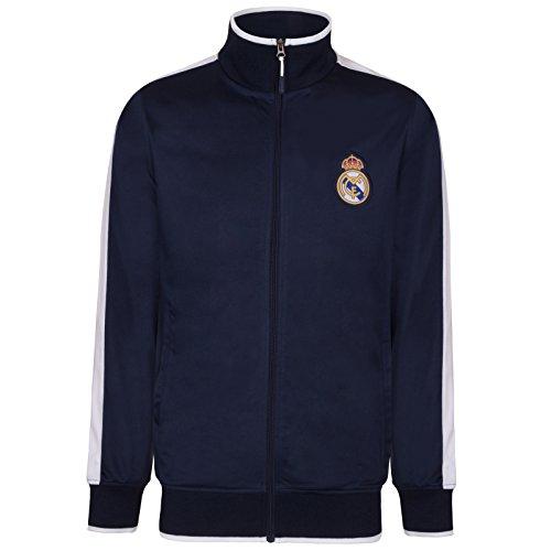 Real Madrid - Herren Trainingsjacke im Retro-Design - Offizielles Merchandise - Geschenk für Fußballfans - L