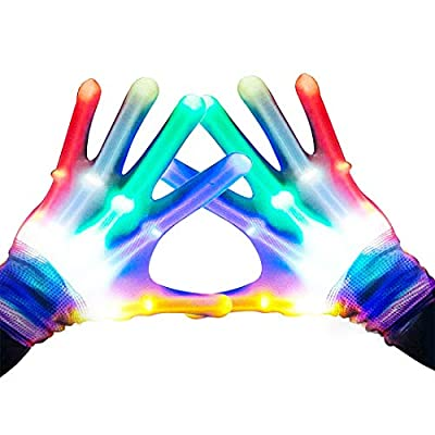 Toys for 3-12 Year Old Boys, ROKY LED Flashing Gloves Party Favors for Kids Gifts for 6-12 Year Old Boys Girls Toy 5-10 Cool Fun 2020 Cool New Gifts Toys for Kids Boys Girls 6 7 8 9 10 11 12 Medium by ROKY