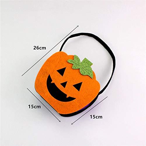 WSJKHY Halloween Halloween pompoenzak vilt Helloween Candy Buggy tas mand Halloween Party D 1