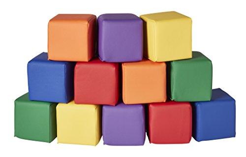 ECR4Kids Softzone Toddler Play Soft Blocks (12-Piece), Primary
