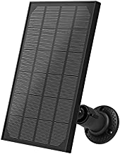 Helidallr Solar Panel for Security Camera Outdoor, IP66 Waterproof Solar Panel with 360° Adjustable Mounting, Solar Panels with 10ft Micro Charging Cable, Continuously Power for Home Security Cameras